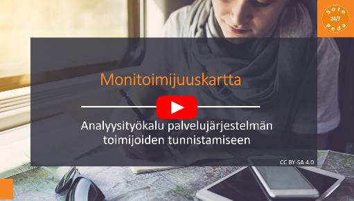 Monitoimijuuskartta : Analyysityökalu palvelujärjestelmän toimijoiden tunnistamiseen. Linkki Youtube-videoon.