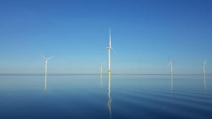 Offshore wind farm in Tahkoluoto, Pori.