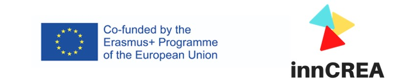 2 logos. 1: Co-funded by the Erasmus+ Programme of the European Union. 2: innCREA.